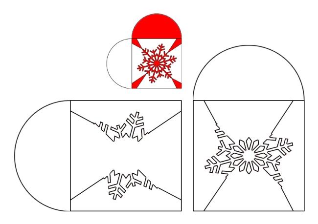 snefnug julehjerte skabelon
